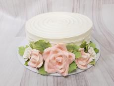 Textured with gumpaste roses