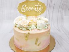 Large Buttercream roses and 70