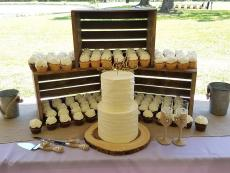 textured with cupcakes and burlap