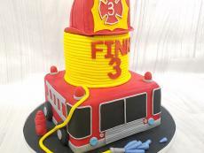 Firetruck and hose