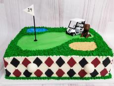 argyle and mini golf cart